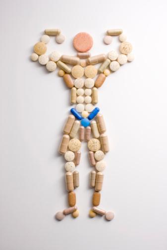Male Likeness「Vitamin pills in shape of man flexing muscles」:スマホ壁紙(16)