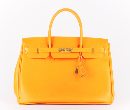 Girly「オレンジのバッグ」:スマホ壁紙(15)