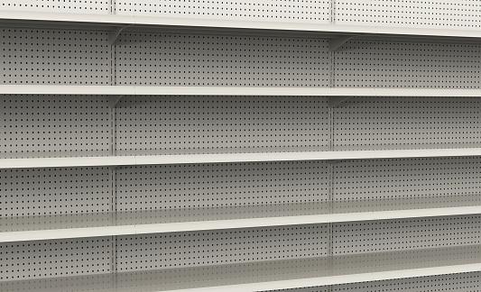 Shelf「Empty store shelves ready to be filled」:スマホ壁紙(10)