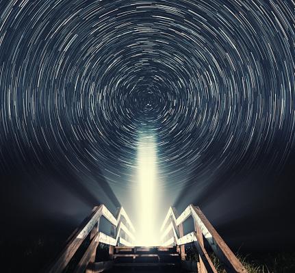 星空「ボードウォークには星」:スマホ壁紙(15)