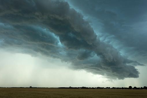 Mammatus Cloud「Prairie Storm Saskatchewan Canada」:スマホ壁紙(1)
