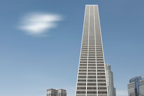 City Of Los Angeles「Building With Cloud Passing」:スマホ壁紙(8)