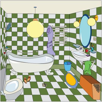 かわいい「Little bathroom」:スマホ壁紙(10)