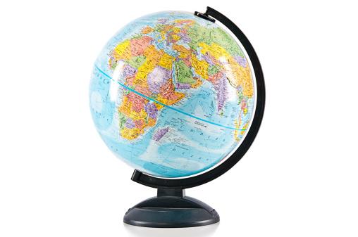 Globe - Navigational Equipment「World Globe Isolated on White」:スマホ壁紙(7)