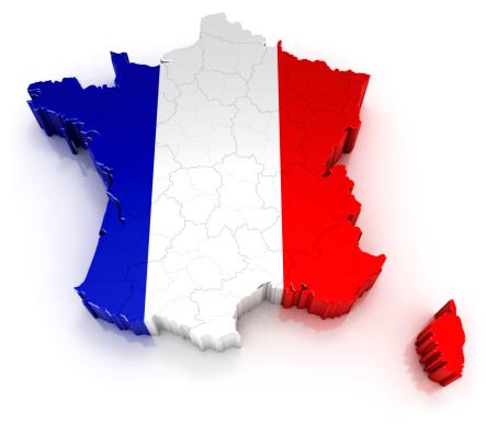 France「France map with flag」:スマホ壁紙(5)