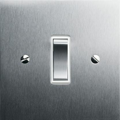 Light Switch「Metal light switch, close-up」:スマホ壁紙(17)