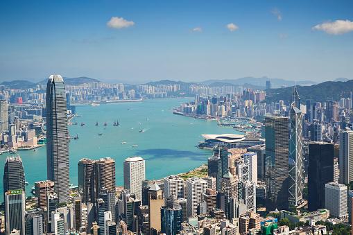 Urban Skyline「Hong Kong skyline viewed from Victoria Peak」:スマホ壁紙(12)