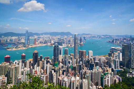 Victoria Peak「Hong Kong skyline viewed from Victoria Peak」:スマホ壁紙(8)