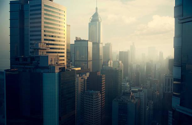 Hong Kong skyline:スマホ壁紙(壁紙.com)
