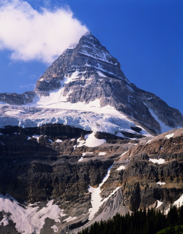 Mt Assiniboine「Canada,British Columbia, Canadian Rockies,Mt.Assiniboine, snow,clouds」:スマホ壁紙(1)