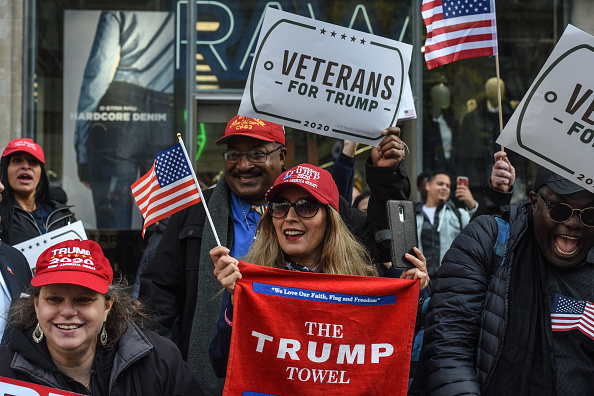 Spectator「President Trump Attends New York City's Veterans Day Parade, Drawing Protestors」:写真・画像(10)[壁紙.com]