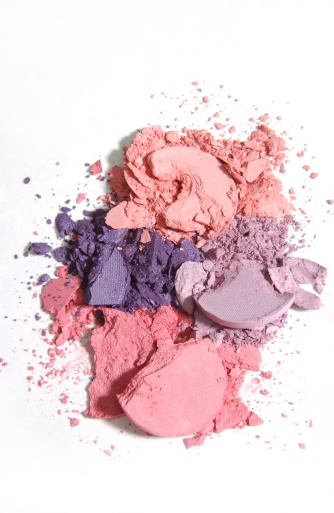 Eyeshadow「Isolated warm-toned makeup crushed into pieces」:スマホ壁紙(9)