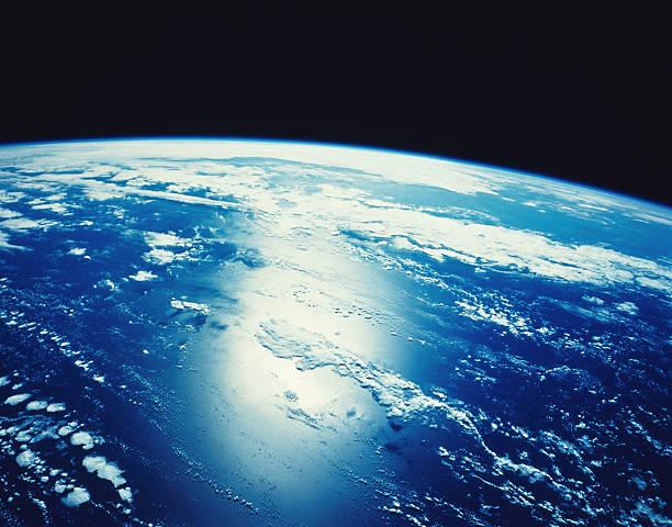 Satellite Image of Sunlight Shining on the Ocean:スマホ壁紙(壁紙.com)