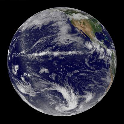 Solar System「Satellite image of Earth centered over the Pacific Ocean on June 17, 2010.」:スマホ壁紙(13)