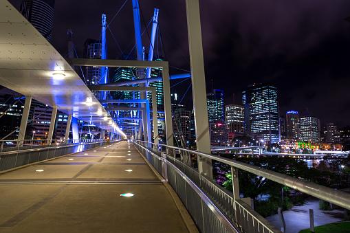 Queensland「Urban Skylane of Brisbane Australia at Night」:スマホ壁紙(18)