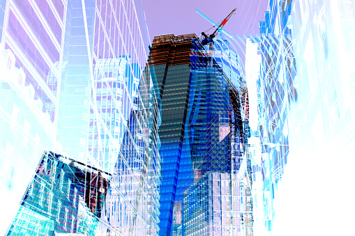 Regency Style「Abstract Image of Office Buildings under construction.」:スマホ壁紙(10)