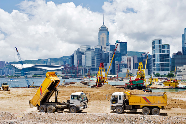 2008「Major reclamation works in progress in Victoria Harbour for future transport and office developments in Central District in Hong Kong July 2008」:写真・画像(8)[壁紙.com]