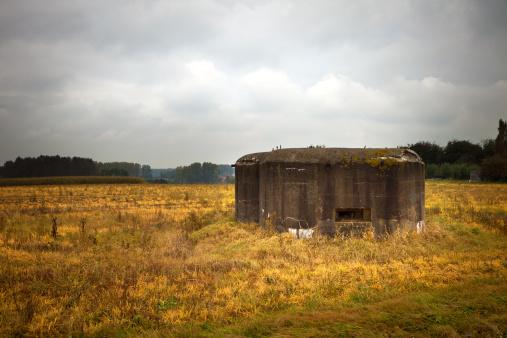 World War II「Old German bunker in a Belgian field」:スマホ壁紙(8)