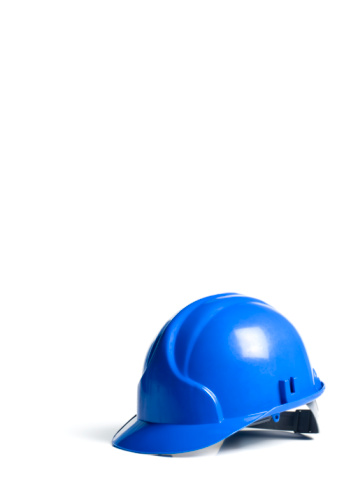 Protective Workwear「Blue hard hat on white background」:スマホ壁紙(14)