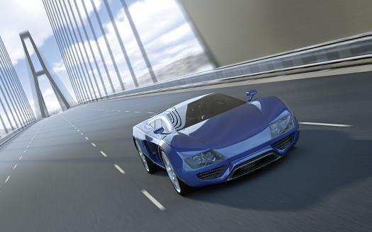 Sports Car「Blue Sports Car」:スマホ壁紙(3)