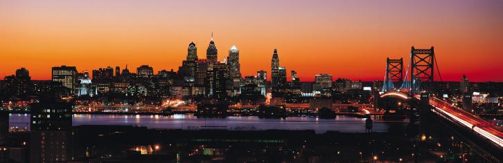 Pennsylvania「Philadelphia skyline at sunset」:スマホ壁紙(19)