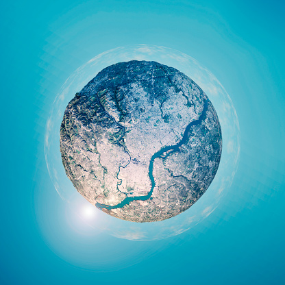 Pennsylvania「Philadelphia 3D Little Planet 360-Degree Sphere Panorama」:スマホ壁紙(6)