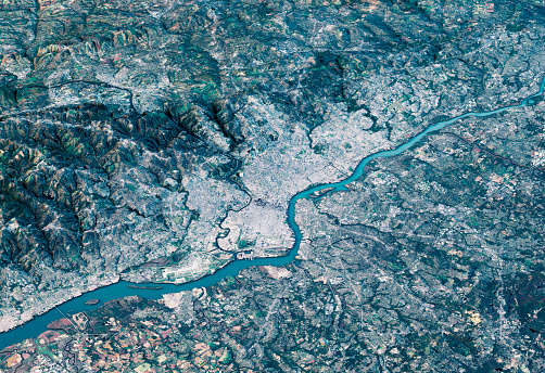 Pennsylvania「Philadelphia 3D Render Satellite View Topographic Map Horizontal」:スマホ壁紙(16)