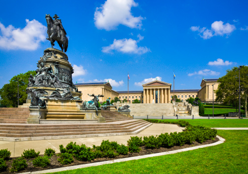 Philadelphia - Pennsylvania「Philadelphia Museum of Art, Pennsylvania, Washington Monument Statue, Eakins Oval」:スマホ壁紙(10)