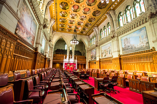 Politics「The Senate Chamber in the Canadian Parliament Building」:スマホ壁紙(2)