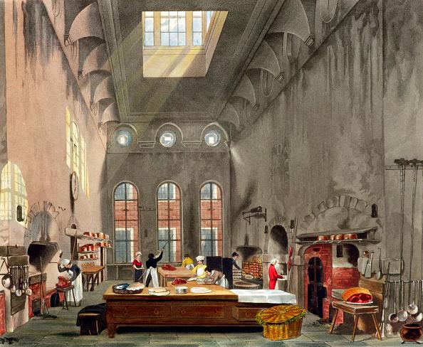 Kitchen「Kitchen St James's Palace London 1819」:写真・画像(14)[壁紙.com]