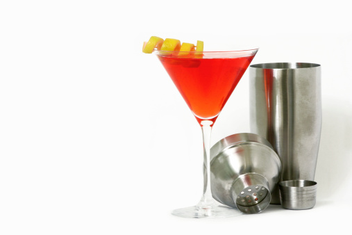 Cosmopolitan Cocktail「Alcohol- Red Martini and Shaker」:スマホ壁紙(14)
