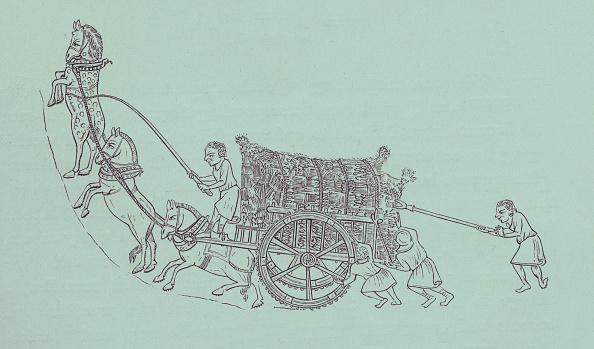 Circa 14th Century「Serfs carting corn」:写真・画像(14)[壁紙.com]