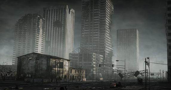 Battle「Destroyed Cityscape」:スマホ壁紙(5)