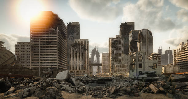 Destroyed Cityscape:スマホ壁紙(壁紙.com)