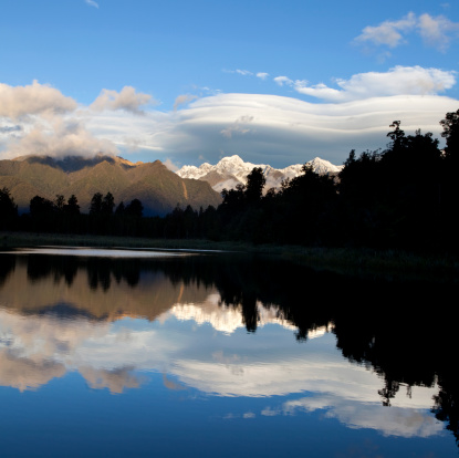 Mt Cook「Still Waters Of Lake Matheson」:スマホ壁紙(18)
