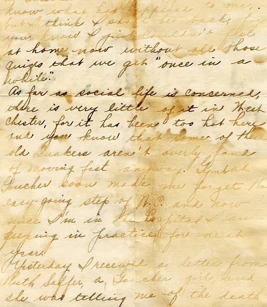 Hand written water damaged vintage letter:スマホ壁紙(壁紙.com)