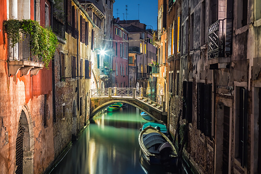 Canal「Venedig at night」:スマホ壁紙(9)