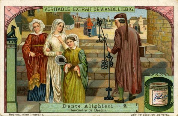 Circa 14th Century「Dante Alighieri meets Beatrice」:写真・画像(11)[壁紙.com]