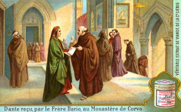 Circa 14th Century「Dante Alighieri received by Father Ilario」:写真・画像(18)[壁紙.com]