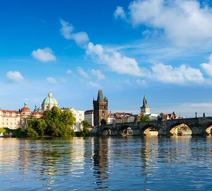 Charles Bridge「The Charles Bridge in Prague, Czech Republic.」:スマホ壁紙(0)