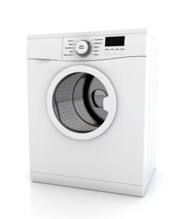 Clip Art「Modern white washing machine appliance」:スマホ壁紙(6)