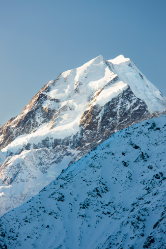Mt Cook「The summit of Mount Cook, South Island, New Zealand」:スマホ壁紙(9)