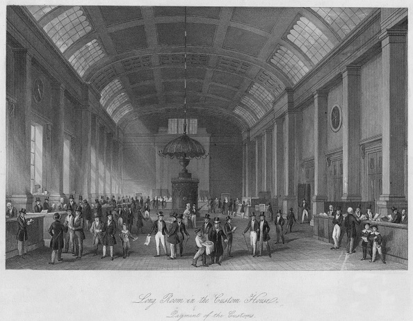 Paying「Long Room in the Custom House. Payment of the Customs」:写真・画像(1)[壁紙.com]