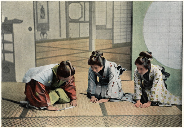 畳「'A Ceremony in Japan', c1890. Artist: Charles Gillot」:写真・画像(15)[壁紙.com]