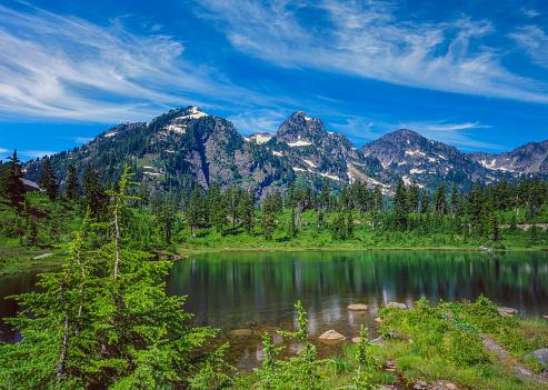 Cascade Range「Spring time snow Mt Baker-Snoqualmie National Forest,WA」:スマホ壁紙(2)