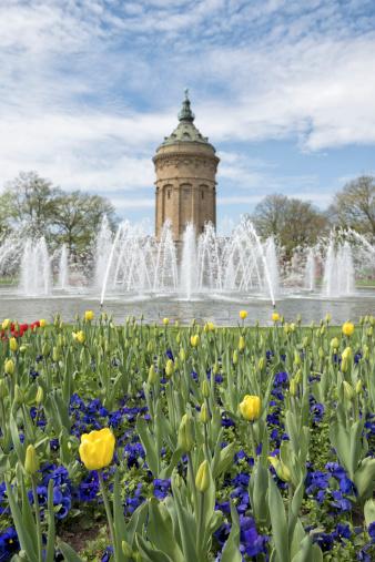 Mannheim「Spring time in Mannheim Mannheimer Wasserturm」:スマホ壁紙(19)