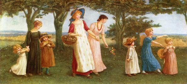 春「'Spring time' by Kate Greenaway」:写真・画像(0)[壁紙.com]