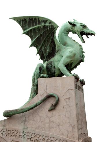 Evil「Dragon gargoyle standing over a gray structure in Ljubljana」:スマホ壁紙(15)