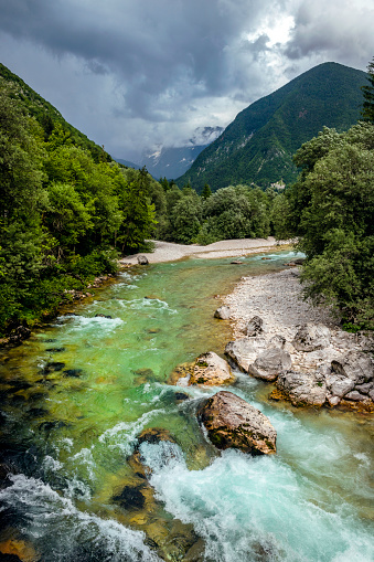 European Alps「River Soca Close Up,Trenta valley,Primorska,Julian Alps Sovenia,Europe」:スマホ壁紙(7)