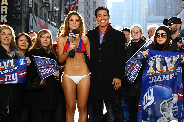 "Fan - Enthusiast「""Extra"" Host Maria Menounos Makes Good On Super Bowl Bet Bares All in a New York Giants Bikini」:写真・画像(12)[壁紙.com]"